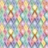 Seamless tile pattern. Retro vivid seamless rhombus background Stock Photos