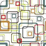 Retro Vivid Square Pattern Stock Images