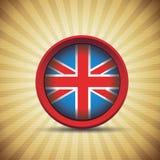 Retro vlag van Groot-Brittannië Stock Foto's