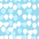 Retro vlak ballonspatroon Groot voor Verjaardag, annive huwelijk, Royalty-vrije Stock Afbeelding