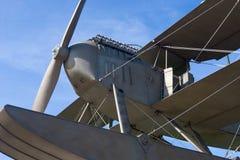 Retro vliegtuig Royalty-vrije Stock Foto's