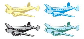 Retro Vliegtuig vector illustratie