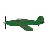 Retro vliegtuig Royalty-vrije Stock Fotografie