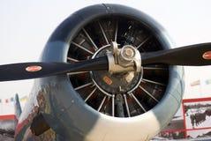 Retro vliegtuig bij de Internationale Ruimtevaartsalon van MAKS Stock Foto's