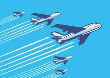 Retro vliegtuigen Royalty-vrije Stock Afbeeldingen