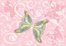 Retro vlinder Royalty-vrije Stock Afbeeldingen