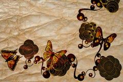 Retro vlinders royalty-vrije illustratie