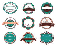 Retro voedseletiketten en emblemen Royalty-vrije Stock Foto