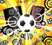 Retro voetbal en partij vector illustratie