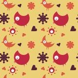 Retro- Vogelhintergrund Lizenzfreie Stockbilder