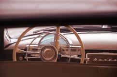 Retro volga car steering Stock Photography