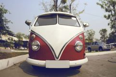 Retro Volkswagen car on the street Royalty Free Stock Images