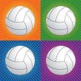 Retro volleyballs. Volleyballs with four differernt retro backgrounds Stock Image