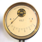 Retro voltmeter. Retro Siemens & Halske voltmeter, from the museum of technics Stock Images