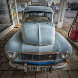 Retro Volvo-Bestelwagen royalty-vrije stock foto