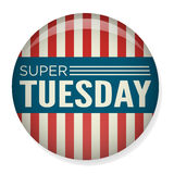 Retro Vote or Election Pin Button - Super Tuesday Stock Photo
