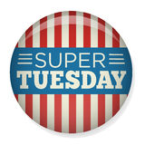 Retro Vote or Election Pin - Super Tuesday. Retro Vote or Election Pin Button or Badge - Super Tuesday Stock Photography