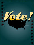 Retro voting poster Stock Images