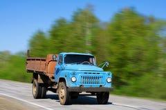 Retro vrachtwagen stock afbeelding