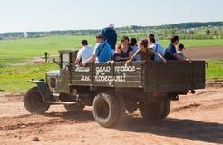 Retro vrachtwagen van GAZ aa Royalty-vrije Stock Afbeeldingen