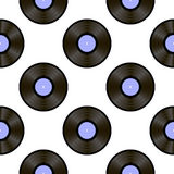 Retro Vynils. Sound Disc Seamless Pattern Royalty Free Stock Photo