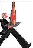 Retro Waitress cartoon vector Stock Images