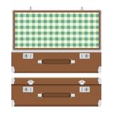 Retro walizka dla podróży Obrazy Stock