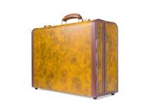 Retro walizka prawdziwa skóra Obraz Stock