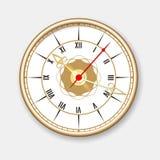 Retro wall clock icon Royalty Free Stock Photo