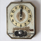 Retro wall clock on old background Royalty Free Stock Image