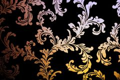 Retro wall paper. Retro damask wall paper with floral ornaments Royalty Free Stock Photography