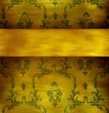 Retro wallpaper. Absract retro gold flourish classical template Stock Photography