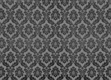 Retro wallpaper. Grey vintage damask wallpaper pattern stock photo