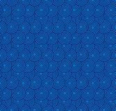Retro wallpaper. Abstract seamless geometric pattern with circles on blue royalty free stock photography