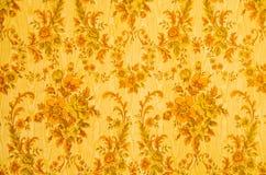 Retro wallpaper background. Retro ornamental and yellow wallpaper background stock image