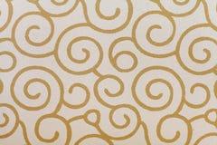 Retro wallpaper. Black and tan retro wallpaper seamless pattern Stock Images