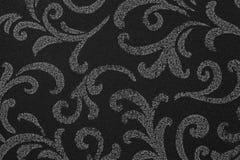 Retro wallpaper. Black and tan retro wallpaper seamless pattern Royalty Free Stock Images