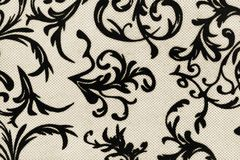 Retro wallpaper, black and white texture Royalty Free Stock Images