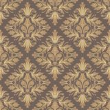 Retro wallpaper. Damask seamless pattern for design. Vector Illustration royalty free illustration