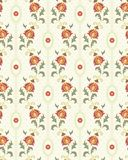 Retro floral wallpaper royalty free illustration