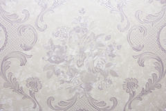 Retro wallpaper. Lilac floral vintage wallpaper background Royalty Free Stock Photo