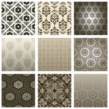 Retro wallpaper set Royalty Free Stock Image