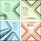 Retro wallpaper set Stock Image