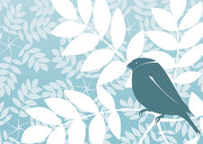 Retro wallpaper vector or background with bird Stock Image