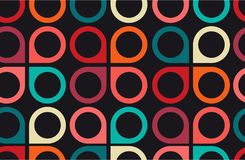 Retro wallpaper on the wall, seamless background vector illustration