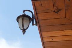 Retro- Wandlampe Stockfoto