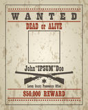 Retro Wanted Poster Template Royalty Free Stock Photography