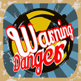 Retro warning poster Royalty Free Stock Photo