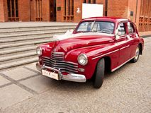 Retro Warszawa car Royalty Free Stock Photo
