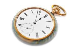 Retro watch. Isolated on white background Stock Image